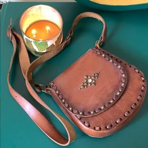 Handbags - Authentic Worn Leather Handmade Purse